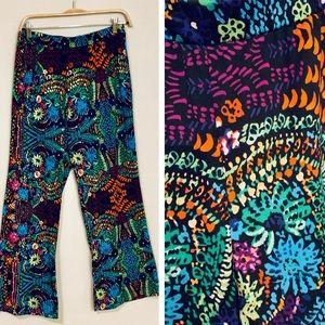 Spense Colorful Print Pants, sz M